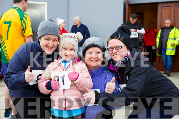 Attending the Kerins O'Rahilly's 10k Walk in honour of local running legend John Griffin on Sunday morning last, l-r. Kelly Hayes, Sarah Hayes, Helen Merritt and Susanne O'Shea, all from Tralee.
