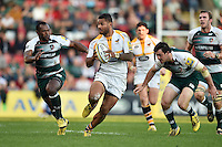 Frank Halai of Wasps in possession. Aviva Premiership match, between Leicester Tigers and Wasps on November 1, 2015 at Welford Road in Leicester, England. Photo by: Patrick Khachfe / Onside Images