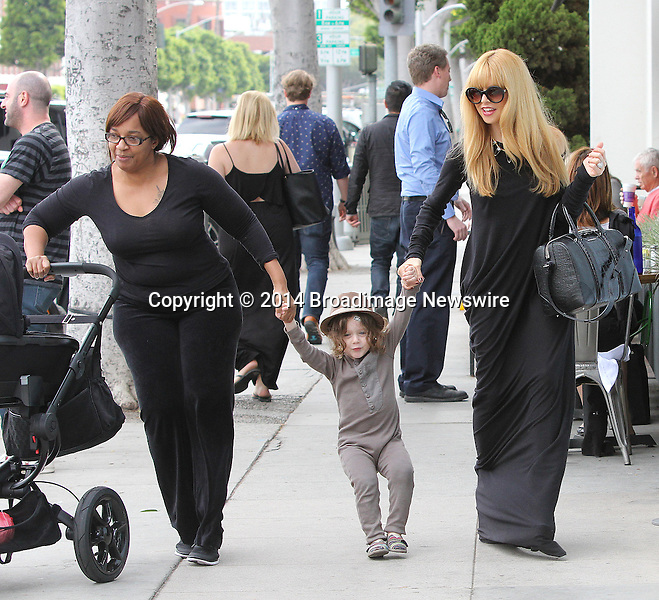 Pictured: Rachel Zoe, Skylar Morrison Berman, Kaius Jagger Berman<br /> Mandatory Credit &copy; Patron/Broadimage<br /> Rachel Zoe and Skylar take baby Kaius Jagger Berman for some frozen Yogurt at The Coffee Bean &amp; Tea Leaf<br /> <br /> 3/7/14, Beverly Hills, California, United States of America<br /> <br /> Broadimage Newswire<br /> Los Angeles 1+  (310) 301-1027<br /> New York      1+  (646) 827-9134<br /> sales@broadimage.com<br /> http://www.broadimage.com