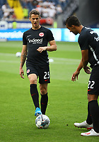 Erik Durm (Eintracht Frankfurt) und Timothy Chandler (Eintracht Frankfurt) - 01.08.2019: Eintracht Frankfurt vs. FC Flora Tallinn, UEFA Europa League, Qualifikation 2. Runde, Commerzbank Arena<br /> DISCLAIMER: DFL regulations prohibit any use of photographs as image sequences and/or quasi-video.