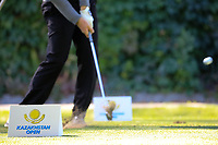 A golfer during the first round of the Kazakhstan Open presented by ERG played at Zhailjau Golf Resort, Almaty, Kazakhstan. 13/09/2018<br /> Picture: Golffile | Phil Inglis<br /> <br /> All photo usage must carry mandatory copyright credit (&copy; Golffile | Phil Inglis)