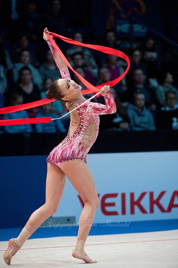 February 28, 2016 - Espoo, Finland - SON YEON-Jae of South Korea performs in Event Finals at Espoo World Cup 2016.
