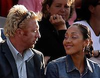27-05-2004, Paris, tennis, Roland Garros, Boris Bekker met zijn nieuwe vriendin