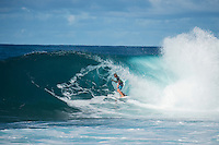 Pipeline-Backdoor, North Shore, Oahu, Hawaii. (Sunday December 11, 2016):  Finn McGill (HAW) - The Men's Pipe Invitational, the selection trials fro the Billabong Pipeline Masters was run today at Backdoor and Pipeline. Two surfers, Finn McGill (HAW) and Gavin Beschen (HAW) won there way through to the main event. 32 surfers started in the trials with four man heats running all day through to final. McGill combo the other finalists with Beschen filling second spot. The NW swell meant a lot of the surfing was at Backdoor with the occasional Pipeline wave. <br /> Photo: joliphotos