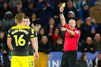 11th January 2020; King Power Stadium, Leicester, Midlands, England; English Premier League Football, Leicester City versus Southampton; Referee Lee Mason books James Ward-Prowse of Southampton - Strictly Editorial Use Only. No use with unauthorized audio, video, data, fixture lists, club/league logos or 'live' services. Online in-match use limited to 120 images, no video emulation. No use in betting, games or single club/league/player publications