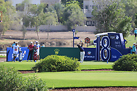 Hideto Tanihara (JPN) on the 18th tee during the 1st round of the DP World Tour Championship, Jumeirah Golf Estates, Dubai, United Arab Emirates. 15/11/2018<br /> Picture: Golffile | Fran Caffrey<br /> <br /> <br /> All photo usage must carry mandatory copyright credit (&copy; Golffile | Fran Caffrey)
