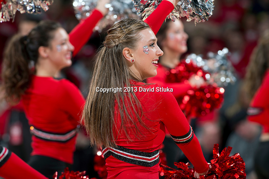 Wisconsin Badgers dance team performs during a Big Ten Conference NCAA college basketball game against the Michigan Wolverines Saturday, February 9, 2013, in Madison, Wis. The Badgers won 65-62 (OT) (Photo by David Stluka)
