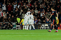 Real Madrid's players celebrate goal during La Liga match between Real Madrid and Valencia CF at Santiago Bernabeu Stadium in Madrid, Spain. December 01, 2018. (ALTERPHOTOS/A. Perez Meca) /NortePhoto NORTEPHOTOMEXICO