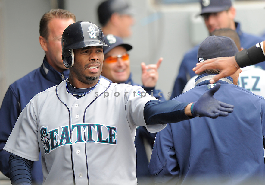 KEN GRIFFEY JR., of the Seattle Mariners  , in action  during the Mariners  game against the Chicago White Sox on April 28, 2009 in Chicago, IL.  The White Sox beat  the Mariners  6-3  in Chicago,