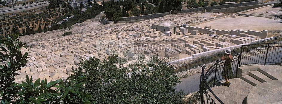 Asie/Israël/Judée/Jérusalem: depuis le mont des Oliviers le cimetiére juif