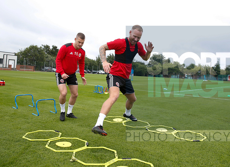 Matt Done of Sheffield Utd during the training session at the Shirecliffe Training complex, Sheffield. Picture date: June 27th 2017. Pic credit should read: Simon Bellis/Sportimage