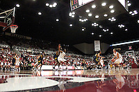 STANFORD, CA - JANUARY 2:  Kayla Pedersen of the Stanford Cardinal during Stanford's 79-58 win over the California Golden Bears on January 2, 2010 at Maples Pavilion in Stanford, California. Also pictured are Jeanette Pohlen, and Nnemkadi Ogwumike.