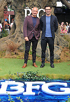 Sir Ben Kingsley &amp; Ferdinand Kingley at the &quot;The BFG&quot; UK film premiere, Odeon Leicester Square cinema, Leicester Square, London, England, UK, on Sunday 17 July 2016.<br /> CAP/CAN<br /> &copy;CAN/Capital Pictures /MediaPunch ***NORTH AND SOUTH AMERICAS ONLY***