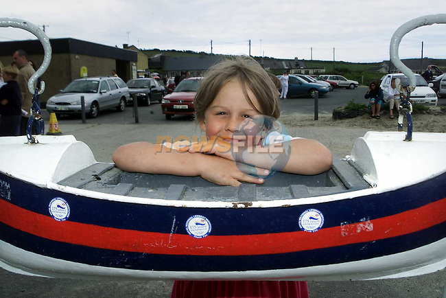 Natasha O'Brien from Clogherhead at the Clogherhead Lifeboat Station open day..Picture Paul Mohan Newsfile