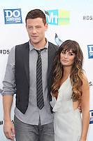 SANTA MONICA, CA - AUGUST 19: Cory Monteith and Lea Michele at the 2012 Do Something Awards at Barker Hangar on August 19, 2012 in Santa Monica, California. Credit: mpi21/MediaPunch Inc. /NortePhoto.com<br />