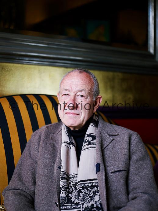Designer Anthony Collett in his London living room