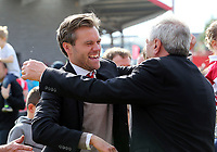 Ebbsfleet United manager Daryl McMahon is all smiles after Ebbsfleet United vs Chelmsford City, Vanarama National League South Play-Off Final Football at The PHB Stadium on 13th May 2017