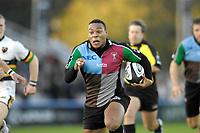 Twickenham. GREAT BRITAIN, Quins's, Jorden TURNER-HALLrunning with the ball,  during the, Guinness Premiership game between, NEC Harlequins and Northamption Saints, on Sat., 04/11/2006, played at the Twickenham Stoop, England. Photo, Peter Spurrier/Intersport-images].....