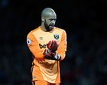 Darren Randolph of West Ham United during the Premier League match at the Old Trafford Stadium, Manchester. Picture date: November 27th, 2016. Pic Simon Bellis/Sportimage