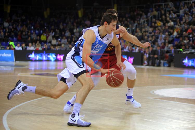 League ACB-ENDESA 2016/2017 - Game: 16.<br /> FC Barcelona Lassa vs Rio Natura Monbus Obradoiro: 100-76.<br /> Rosco Allen vs Victor Claver.