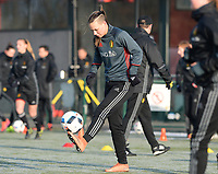 20170118 - TUBIZE , Belgium : Jassina Blom pictured during a training session of the Belgian national women's soccer team Red Flames during their winter camp, on the 18 th of January in Tubize. PHOTO DIRK VUYLSTEKE | Sportpix.be