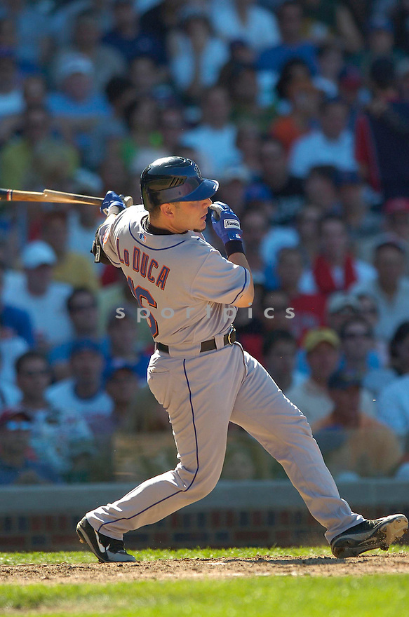 Paul Lo Duca, of the New York Mets, in action against the Chicago Cubs on July 14, 2006 in Chicago...Mets win 6-3..David Durochik/ SportPics