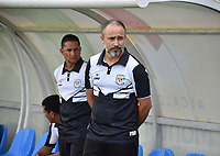 MONTERÍA - COLOMBIA, 30-09-2018:Flavio Robatto director técnico de Jaguaresde Córdoba.Acción de juego entre los equipos  Jaguares de Córdoba y Deportivo Pasto durante partido por la fecha 12 de la Liga Águila II 2018 jugado en el estadio Municipal Jaraguay de Montería . /Flavio Robatto coach of Jaguares of Cordoba.Action game between  Jaguares of Cordoba and Deportivo Pasto during the match for the date 12 of the Liga Aguila II 2018 played at Municipal Jaraguay Satdium in Monteria City . Photo: VizzorImage /Andrés Felipe López  / Contribuidor.