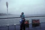 Bad weather Brighton Sussex. UK 1980s 1970s,