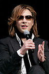 Japanese rock star Yoshiki of X JAPAN speaks during the second day of the New Economy Summit (NEST 2017) on April 7, 2017, Tokyo, Japan. The annual summit brings together global entrepreneurs and innovators for a two-day event in Tokyo. (Photo by Rodrigo Reyes Marin/AFLO)