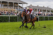 15th September 2017, Doncaster Racecourse, Doncaster, England; The William Hill St Ledger Festival, Gentleman's Day; Ryan Moore on Heatache wins The Wainwrights Flying Childers Stakes (Class 1) (Group 2)
