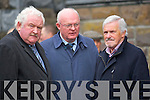 Donal Tobin (SIPTU Kerry), Eddie S Mullins  and Harry Carroll (SIPTU Cork). at the removal of Patsy Cronnin from St James Church Killorglin to the local graveyard on Monday.