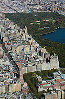 aerial photograph Upper West Side, Harlem, Central Park, Manhattan, New York City