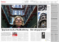 Dagens Nyheter (main Swedish daily) on Jews surviving the holocaust.<br /> Budapest, Hungary, 01.2012<br /> Pictures: Martin Fejer