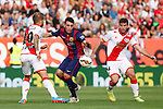 Rayo Vallecano´s Insua (R) and Barcelona´s Munir during La Liga match between Rayo Vallecano and Barcelona at Vallecas stadium in Madrid, Spain. October 04, 2014. (ALTERPHOTOS/Victor Blanco)