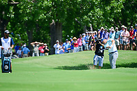 Jordan Spieth (USA) hits from the sand on 9 during round 2 of the Dean &amp; Deluca Invitational, at The Colonial, Ft. Worth, Texas, USA. 5/26/2017.<br /> Picture: Golffile | Ken Murray<br /> <br /> <br /> All photo usage must carry mandatory copyright credit (&copy; Golffile | Ken Murray)