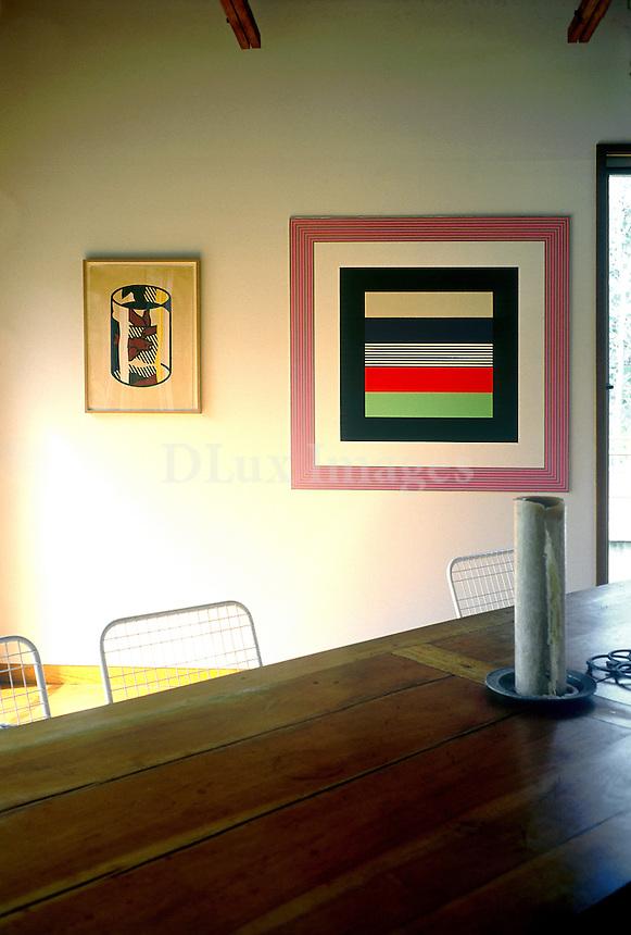 art deco wooden dining room