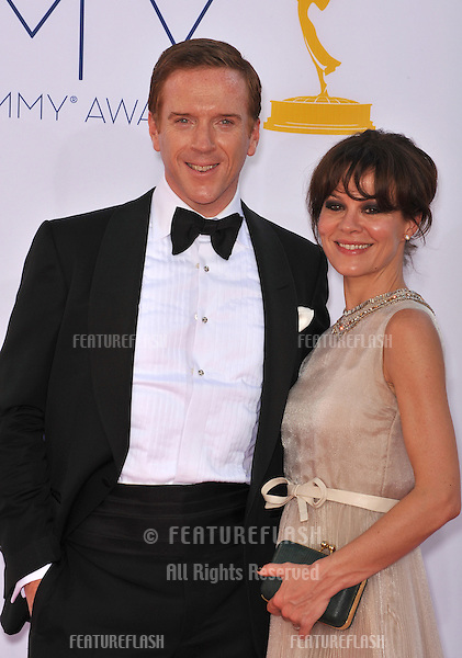 Damian Lewis & Helen McCrory at the 64th Primetime Emmy Awards at the Nokia Theatre LA Live..September 23, 2012  Los Angeles, CA.Picture: Paul Smith / Featureflash