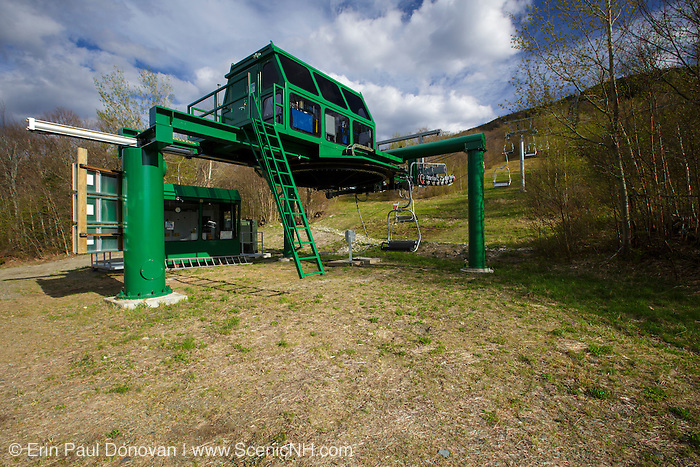 Franconia Notch State Park - Cannon Mountain's Mittersill during the spring months in the White Mountains, New Hampshire USA