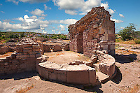 Byzantine Basilica ruins at the Apollo Smintheion Sanctuary near Gulpinar Village Turkey.
