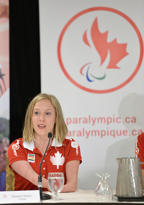 Toronto, ON - Aug 5 2015 - Chef de Mission Elisabeth Walker-Young during the opening ceremonies flag bearer annoucement  (Photo: Matthew Murnaghan/Canadian Paralympic Committee)