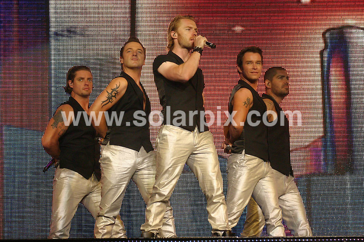 **ALL ROUND PICTURES FROM SOLARPIX.COM**.**WORLDWIDE SYNDICATION RIGHTS**.Boyzone in concert at the NEC (National Exhibition Centre), Birmingham, UK. 10th June 2008..Ths pic: Boyzone..JOB REF: 6603 NYA     DATE: 10_06_2008.**MUST CREDIT SOLARPIX.COM OR DOUBLE FEE WILL BE CHARGED* *UNDER NO CIRCUMSTANCES IS THIS IMAGE TO BE REPRODUCED FOR ANY ONLINE EDITION WITHOUT PRIOR PERMISSION*