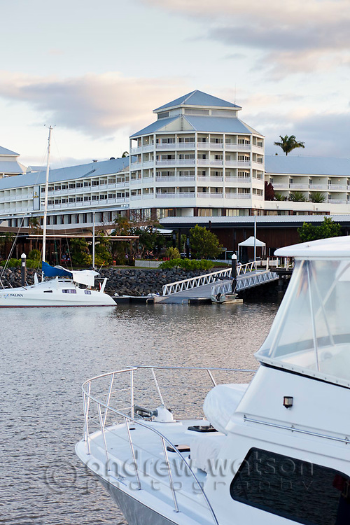 The Pier at the Marina - a waterfront hotel and shopping complex housing the Shangri-La Cairns.  Cairns, Queensland, Australia