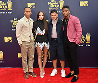 Five Points Cast - Raymond Cham Jr, Nate Potvin, Madison Pettis &amp; Spence Moore II at the 2018 MTV Movie &amp; TV Awards at the Barker Hanger, Santa Monica, USA 16 June 2018<br /> Picture: Paul Smith/Featureflash/SilverHub 0208 004 5359 sales@silverhubmedia.com