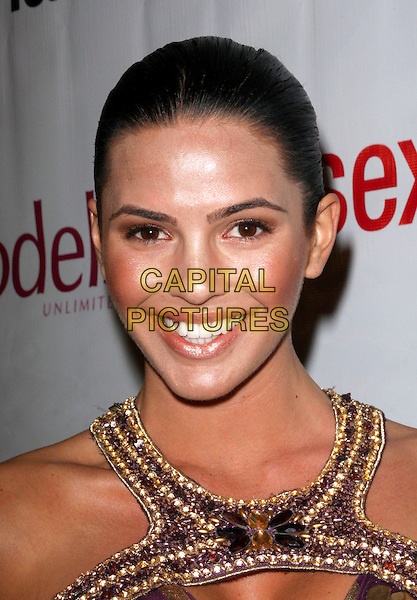"CC FONTANA .""Supermodels Unlimited Magazine"" Present Hollywood's 100 Most Beautiful Issue Release Party held at Social Hollywood, Hollywood, California, USA..November 12th, 2008.headshot portrait gold beads beaded .CAP/ADM/FS.©Faye Sadou/AdMedia/Capital Pictures."