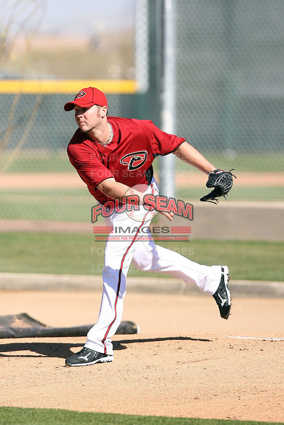 Micah Owings, Arizona Diamondbacks 2011 spring training workouts at the Diamondbacks new training complex at Salt River Fields at Talking Stick, Scottsdale, AZ - 02/14/2011.Photo by:  Bill Mitchell/Four Seam Images.