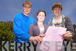 James Galvin, Erika Healy and Donagh Sugrue from Brookfield College took their first Leaving Cert. exam on Wednesay morning.