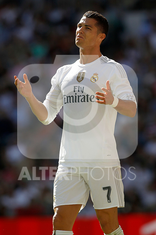 Real Madrid's Cristiano Ronaldo during La Liga match. September 19,2015. (ALTERPHOTOS/Acero)