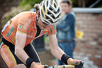 Liege-Bastogne-Liege 2012.98th edition..Samuel Sanchez lost touch with the leaders up Saint-Nicolas