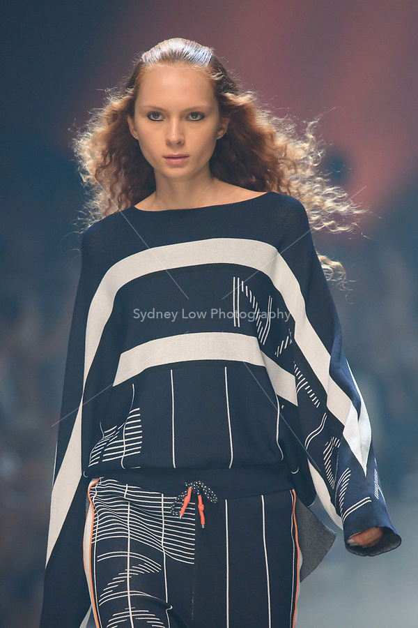 10 March 2018, Melbourne - Model showcases design by PE Nation during the runway 6 show presented by Who What Wear at the 2018 Virgin Australia Melbourne Fashion Festival in Melbourne, Australia. (Photo Sydney Low / asteriskimages.com)