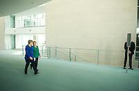 Berlin, Bundeskanzlerin Angela Merkel (CDU) und die Praesidentin der Republik Chile, Michelle Bachelet, am Montag (27.10.2014) bei einer Pressekonferenz nach bilateralen Gespraechen. Foto: Steffi Loos/CommonLens